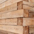 Close-up wooden beams — Stock Photo