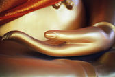 Buddha golden hand — Foto Stock