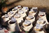 Sacchetti con riso — Foto Stock