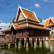 Beautiful churches, temples, Thailand and blue sky. — Stok fotoğraf