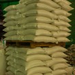 Arrangement with lots of fertilizer sacks. — Stock Photo #37489863