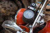 Light orange old motorcycle — Stock Photo