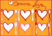 Consume Love — Stock Vector