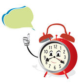 Talking Alarm Clock — Stock Vector