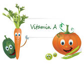 Vitamin A Vegetables — Stock Vector