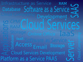 Cloud Services. IAAS, PAAS, SAAS — Stock Vector