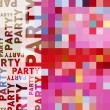 Modern design for a party or invitation card with pixels - Imagen vectorial