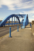 Blue bridge Rhyl — Stock Photo
