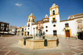 Ronda, Malaga, Andalusia, Spain: Plaza Del Socorro Church — Stock Photo