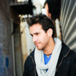 Portrait of handsome man in urban background  — ストック写真