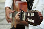 Man playing the Spanish guitar — Stock Photo