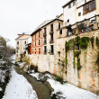 Royalty-Free Stock Photo: Snow storm in Darro river. Granada, Andalusia, Spain