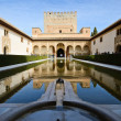 Court of the Myrtles in Alhambra - Stock Photo