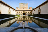 Court of the Myrtles in Alhambra — Stock Photo