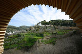 Generalife seen from the Alhambra in Granada, Andalusia, Spain — Stock Photo