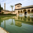 The Partal gardens of Alhambra in Granada — Stock Photo