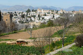 Albaicin seen from the Alhambra in Granada, Andalusia, Spain — Stock Photo