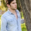 Attractive young handsome man, model of fashion — Stock Photo