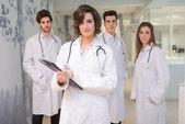 Group of medical workers portrait in hospital  — Zdjęcie stockowe
