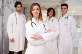 Group of medical workers portrait in hospital  — Stockfoto