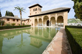 The Partal gardens of Alhambra in Granada — Foto de Stock
