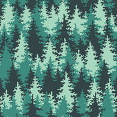 Seamless pattern coniferous forest. — Vecteur