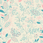 Beautiful floral seamless pattern. — Stock Vector