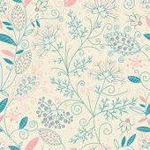 Krásný květinový vzor bezešvé. — Stock vektor
