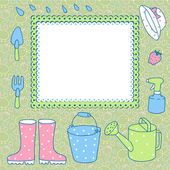 Scheda per registrare giardinaggio. — Vettoriale Stock