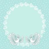 романтический фон с голубями для свадебных открыток, приглашений. — Cтоковый вектор