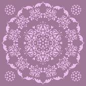 Beautiful circular pattern - irises. — Stock Vector