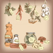 Set of spices and herbs. — Stock Vector #24917679