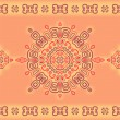 Seamless lace pattern in ethnic style. - Stockvectorbeeld