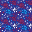 ストックベクタ: Seamless pattern - fireworks on Independence Day.