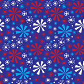 Seamless pattern - fireworks on Independence Day. — Stock Vector