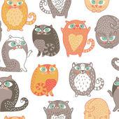 Wzór z kotów w wektor — Wektor stockowy