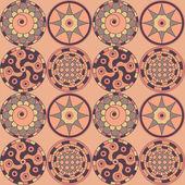 старомодный бесшовные декоративные круги. — Cтоковый вектор