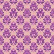 Seamless pattern with decorative flowers - irises. — Cтоковый вектор