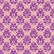 bezešvé vzor s dekorativní květy - kosatce — Stock vektor