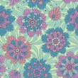 Decorative flowers. Seamless floral pattern. — Stock Vector