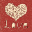 Vintage card with hearts  — Imagen vectorial
