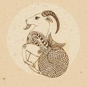 Dierenriemteken - steenbok — Stockvector
