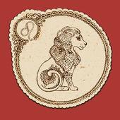 Zodiac sign - Leo — Stock Vector