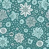 Snöfall. seamless mönster. hand dras snöflingor. jul win — Stockvektor