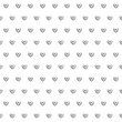Seamless pattern of hearts — Vector de stock
