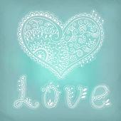 Romantický karta se srdcem. Valentine karta. pozvání — Stock vektor