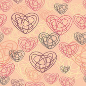 Seamless pattern of hearts. — Vector de stock