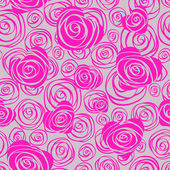 Abstract seamless pattern with hearts and roses — Cтоковый вектор