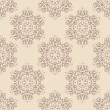 Seamless pattern with decorative flowers — Imagen vectorial