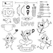 Set Valentine's Day doodles — Stockvector